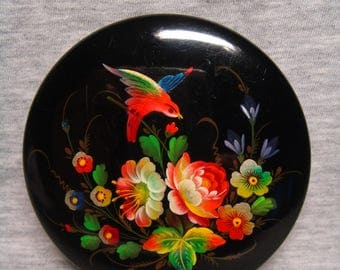Vintage USSR 1950s Russian lacquer box Hand Painted