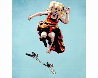 Skater Girl giclée print