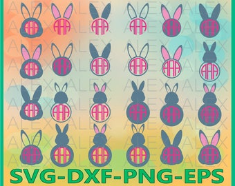 70% OFF, Bunny Monogram Svg, Rabbit svg, Easter SVG, Easter Bunny svg, Easter Cut Files svg, dxf, ai, eps, png, Cut files for Cricut