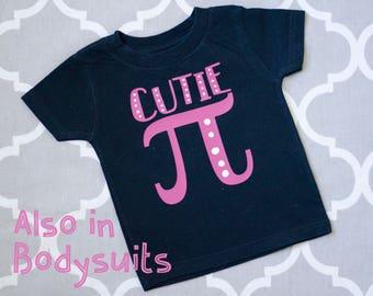 Cutie Pi Baby Shirt, Math Baby gift, Math Baby Tshirt, Nerdy Baby Shirt, Geeky Baby Shirt, Funny Baby Clothes, Cloth Diaper Friendly Shirt
