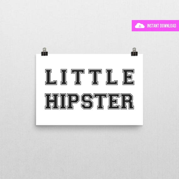 Little Hipster (White) | Instant Download