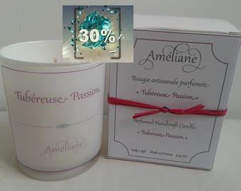 Bougie parfumée Tubéreuse - Passion / Scented candle Tuberose - Passion