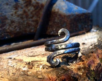 Nordic style iron ring