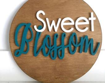"10"" Round Name Sign - Circle Name Sign - Wood Name Sign - Family Name Sign - Baby Name Sign - Wooden Name Sign - Custom Name Sign - Custom"