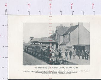 The First train at Swanage LSWR on May 30 1835  Printed photograph ZAS148