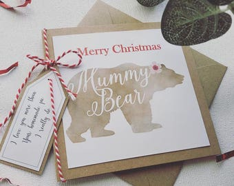 Christmas cards/ from baby bear/ mummy bear/ daddy bear/ family bear/ christmas/ happy christmas