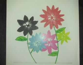 Floral Watercolor (Rainbow) - Print