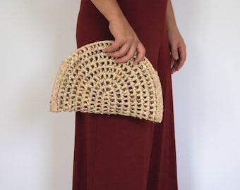 Straw Clutch, Summer Bag, Beach Bag, straw bag, eco friendly handbag, natural bag.