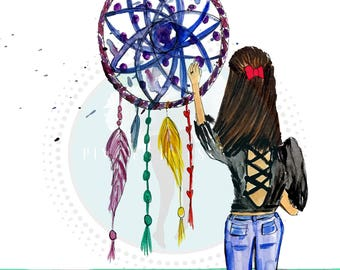Dream Catcher Illustration, Pinales Illustrated