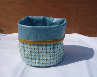 Planter, trinket, yellow and blue reversible