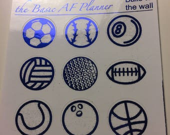 FOILED Sports Ball Stickers (big) |