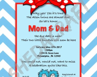 Thing one Thing two Invitations