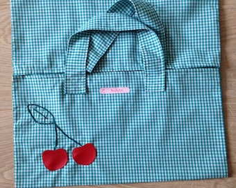 Embroidered cherry pie bag