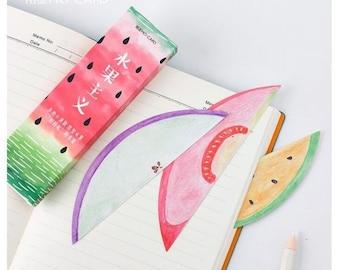 Fruit bookmark, Melon book mark, bullet journal accessories, stationary, Tropical bookmarks, school supplies, kawaii stationery, scrap book