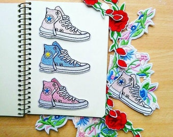 Convers sneakers iron on  patch , Craft DIY Sew on Applique Patches