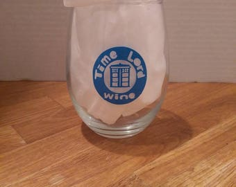 Doctor Who time Lord wine glass