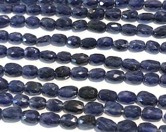 "Sapphire Beads, Blue Sapphire Beads, Gemstone Beads, Oval Sapphire Beads, Natural Gemstone Beads, Jewelry Making, 6x4mm-9x6mm, 13""Strand"