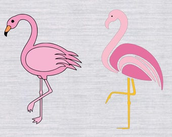 Flamingo SVG Bundle, Flamingo SVG Cutting Template and clipart, flamingo svg, cricut download, svg files for silhouette, cricut, dxf,png