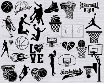 Basketball SVG Bundle, Basketball Mom svg, Basketball clipart, basketball silhouette, svg files for silhouette, cricut cut files, dxf, png,