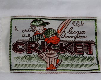 """Badge, motif, applique to sew """"Cricket""""width 12 cm height 7 cm sewing"""