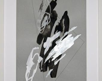 Original abstract illustration, 0625, mixed media on paper, 2017