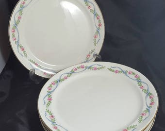 """6 Hall Wildfire Luncheon Plates 9 1/4"""""""