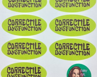 """Correctile Dysfunction Mansplainer Labels, feminist stickers for those guys who get too much of their water from the """"well, actually"""" (msp2)"""