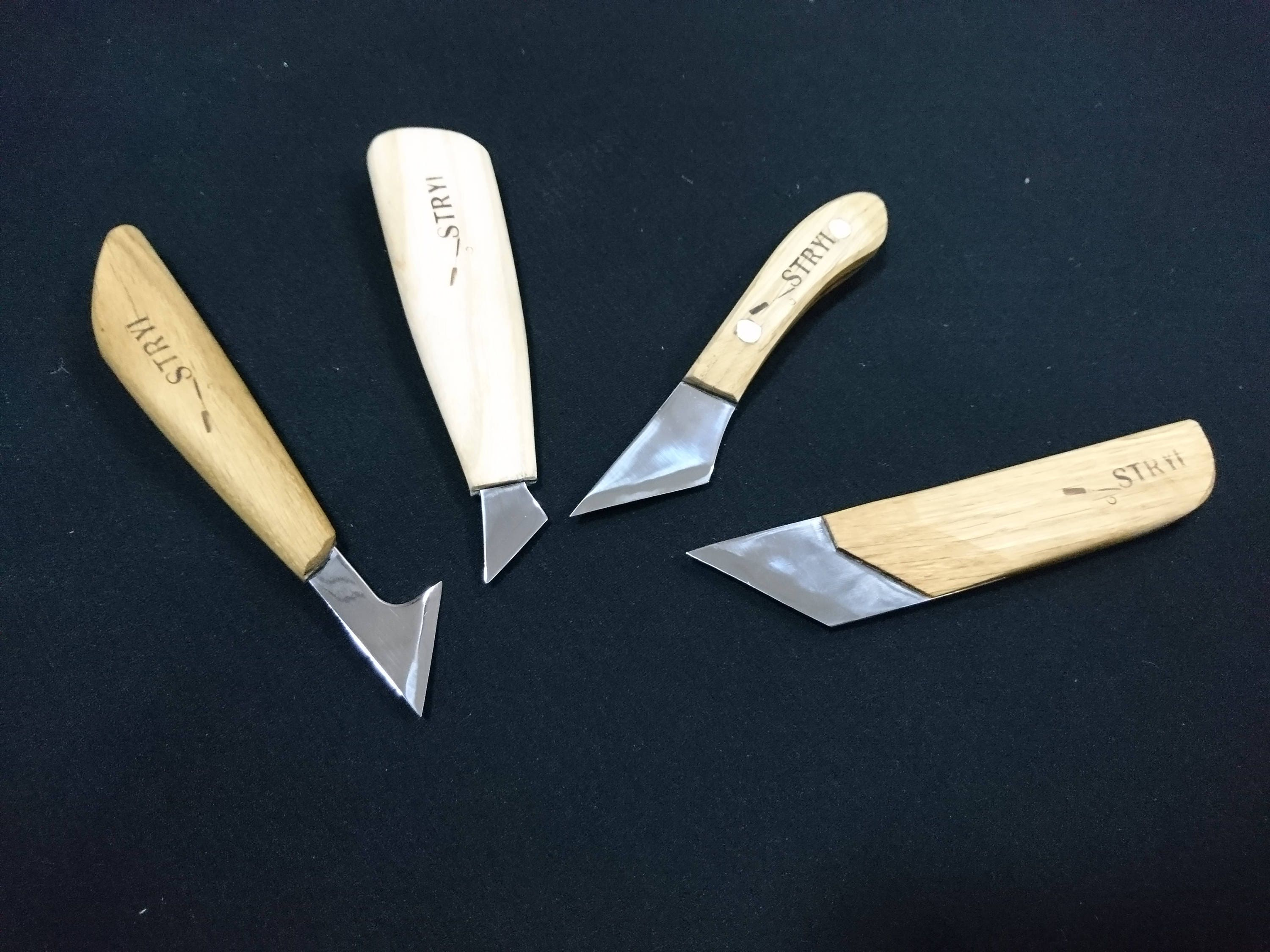 Wood carving set of knives chip knife tools