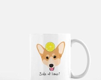 Personalized Corgi Mug, Corgi Coffee Mug, Corgi Mug, Corgi Cup, Corgi Coffee Cup, Dog Mug, Dog with Fruit Mug, Corgi Mugs, Corgi Gift, Corgi