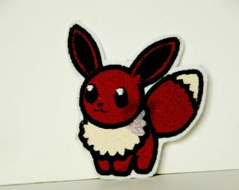 Pokemon Inspired Iron-On Patches - Eevee Flareon Jolteon Vaporeon - Non Shiny Eevee Evolutions