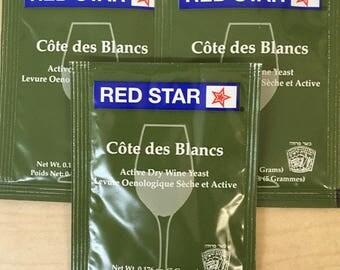 Three-Pack Cote des Blancs Wine Yeast by Red Star