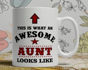 Awesome Aunt mug Aunt gift mug Aunt coffee mug Aunt gift idea Aunt mug for her coffee mug for her gift idea for her mug AW Aunt