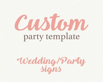 Add On Wedding Template, Party Signs, Table number, Table menu, Wedding Program,  Printable Wedding, Invitation template, Wedding invitation