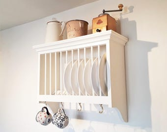 Wall Mounted Kitchen Plate Rack