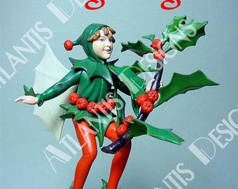 Holly Fairy Fridge Magnet 2 x 3