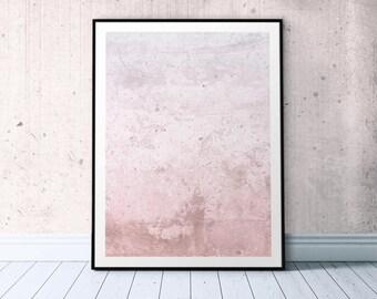 Blush Pink Poster, Millennial Pink, Blush Pink Wall Art Trendy Poster Printable, Abstract Blush Print, Stylish Wall Art Abstract Pink Poster