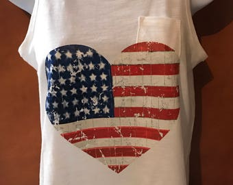 American Flag Adult Shirt