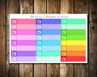 TV Little Things - Functional Stickers that Fit Erin Condren Vertical & Happy Planner