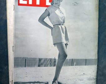 Life Magazine June 17, 1946 Play Dresses/GI's at Havard French Build Dam
