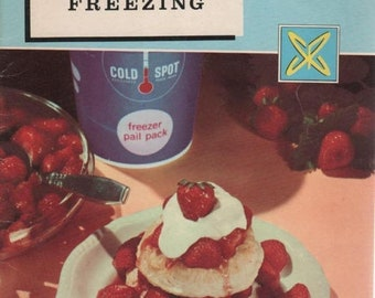 How to Prepare Foods for Freezing 36 Page 1959 SEARS Coldspot Paperback Book