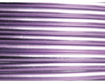 Aluminum wire 3 mm light lilac - jewelry creations and floral designs - roller 1.30 m