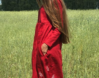 Linen dress, natural linen clothing, dress for women, women linen loose dress Linen Dresses for woman, Linen Summer Dress, Natural dress