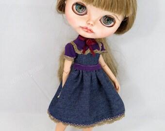 Blythe robe en jean raffinée