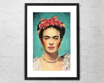 Frida Kahlo - Painting - Frida Kahlo Art - Frida Kahlo Print - Frida Kahlo Poster - Frida Kahlo Decor - Frida Kahlo Wall Art - Frida Art