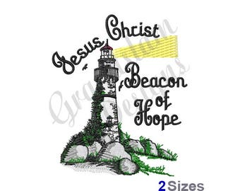 Jesus Christ Beacon Of Hope - Machine Embroidery Design