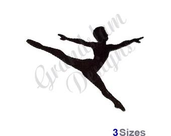 Dancer Silhouette - Machine Embroidery Design