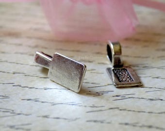 Pewter Glue-On Bail, 2 Count, DIY Jewelry, DIY Crafts, Silver-tone