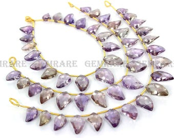 Ametrine Dagger Faceted Beads, Quality A, 8x11.50 to 10.50x17 mm, 18 cm, 17 pieces, AMETRI-033/1, Semiprecious Gemstone Beads, Craft Supplie