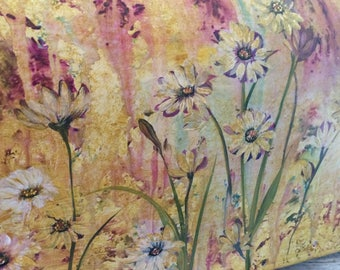Hand Painted Mailboxes, Artistic And Unique Mailboxes, Wildflowers On A Mailbox, Garden Art For your Mailbox, Unique Personalized Mailboxes