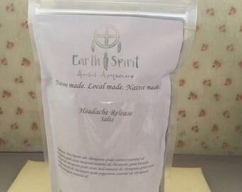 Earth Spirit Headache Release Salts |  Headache and Migraine Relief | Herbal Bath Salts 8 oz